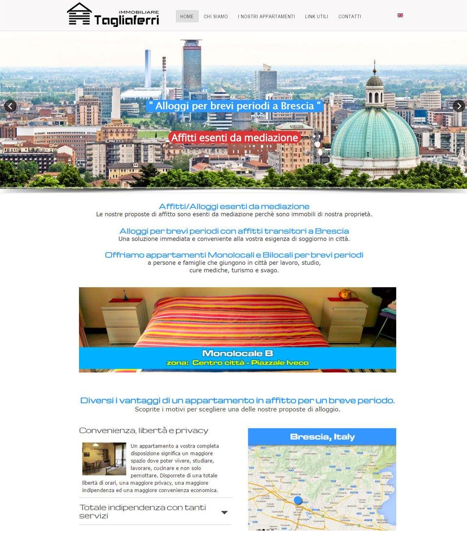 Alloggi brevi Brescia sito web by www.poliweb.it