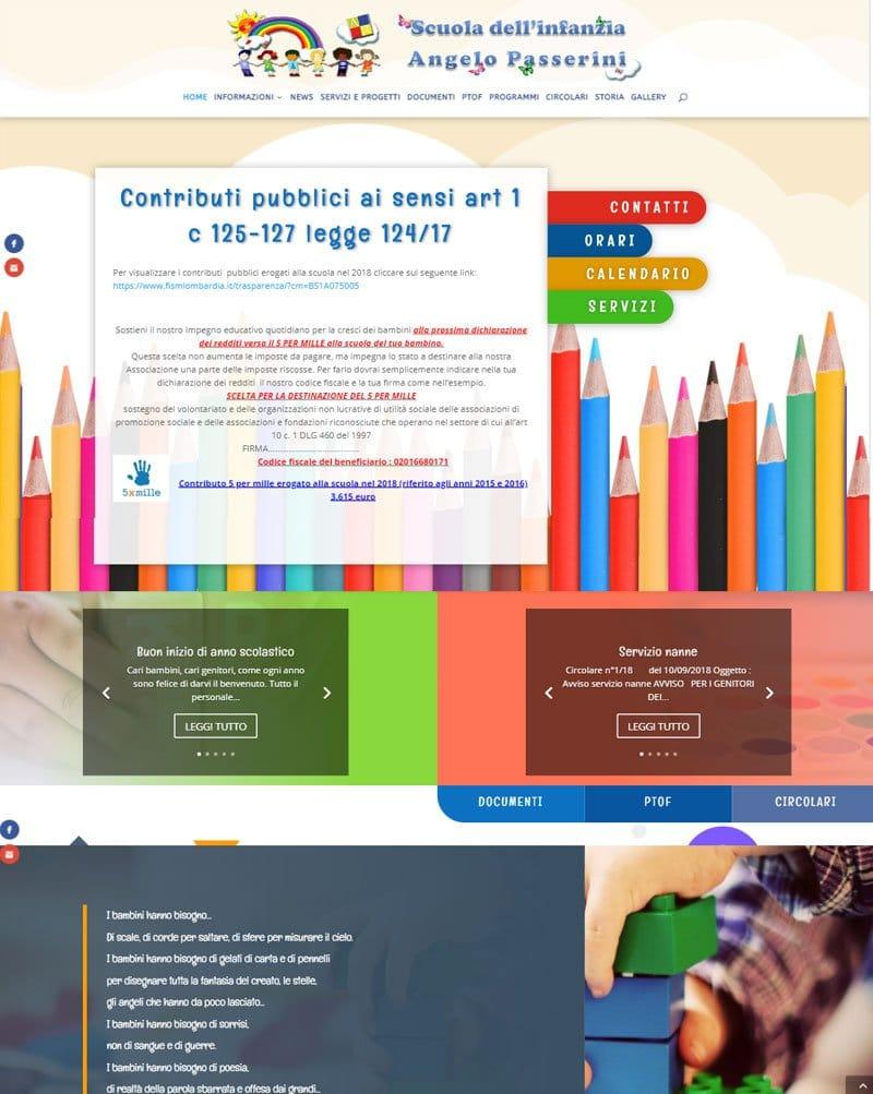 Scuola dell'infanzia A. Passerini sito web by www.poliweb.it