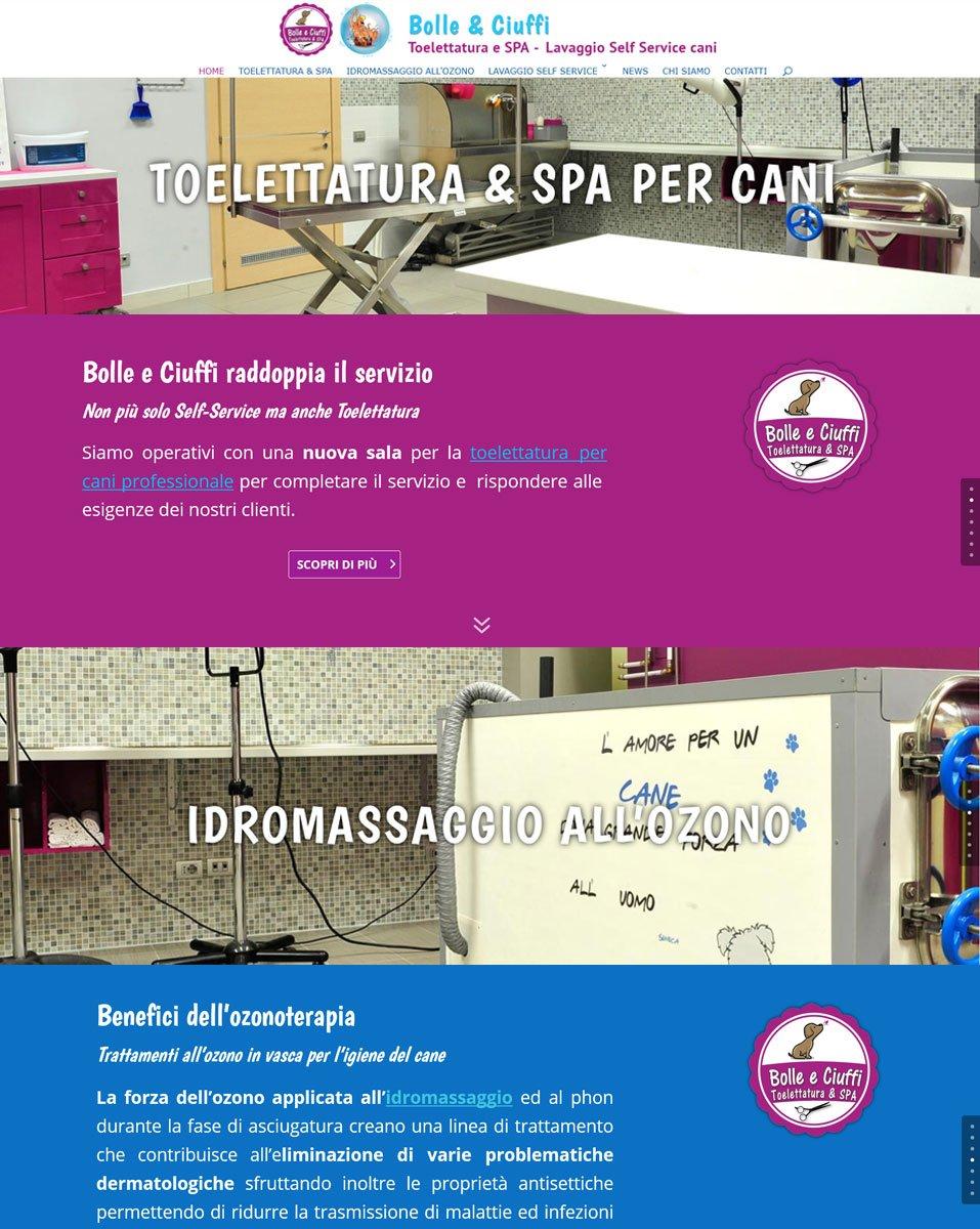 Sito web Bolle e Ciuffi