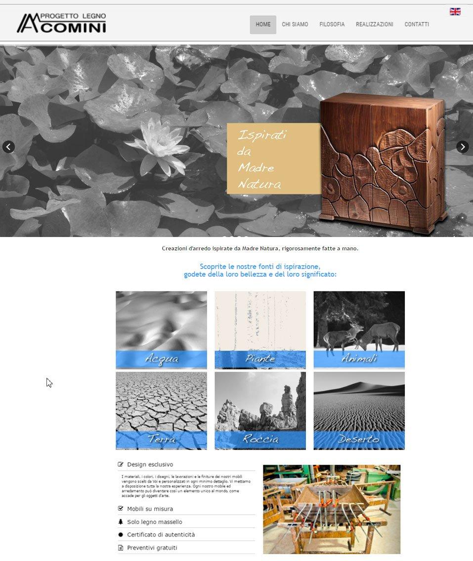 Comini progetto legno sito web by www.poliweb.it