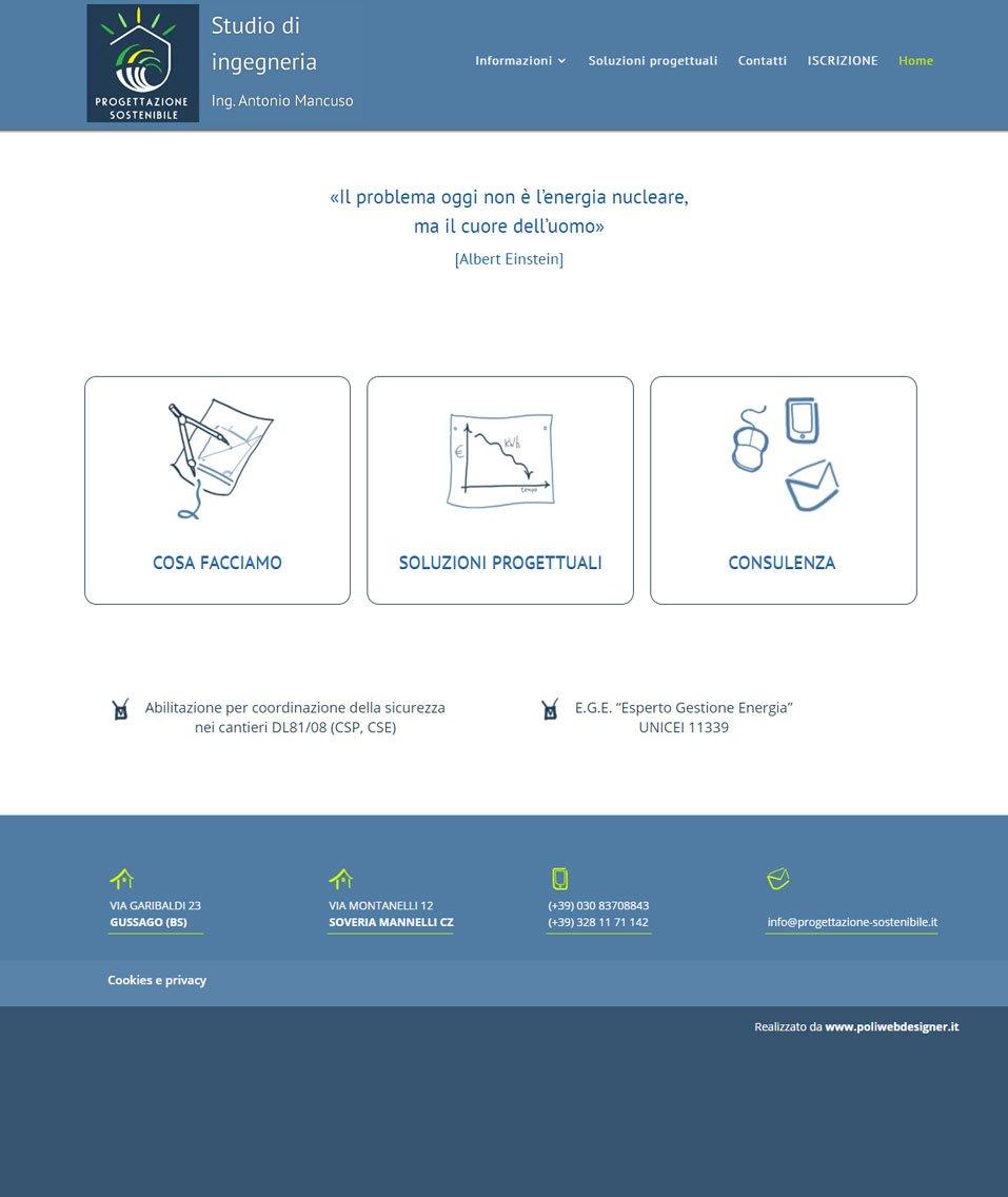 Progettazione sostenibilesito web by www.poliweb.it