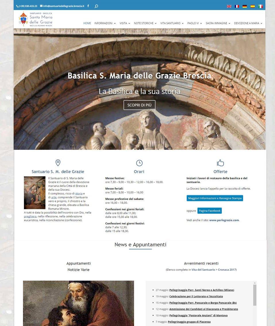 Santuario delle Grazie - Brescia sito web by www.poliweb.it